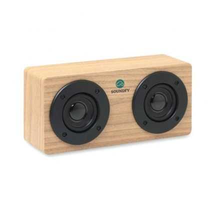 altavoz bluetooth amplificador madera litio usb