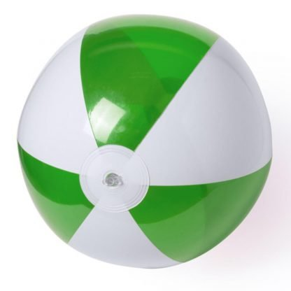 balon plastico blanco franjas color brillo