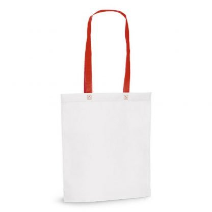 bolsa blanca asas largas asa color nonwoven
