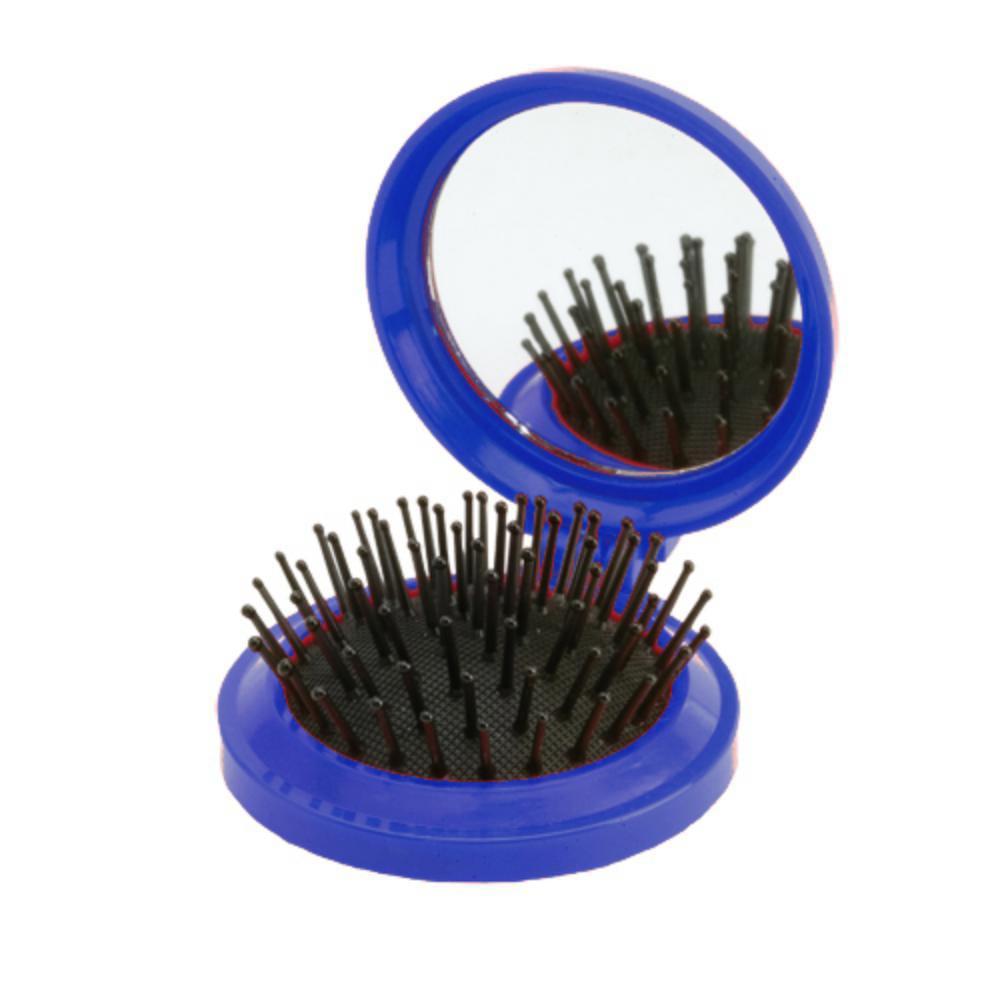 cepillo espejo plagable color mujer bolso