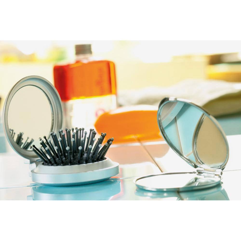 cepillo espejo redondo viaje