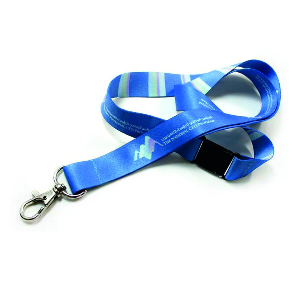 cinta lanyard cierre seguridad congresos