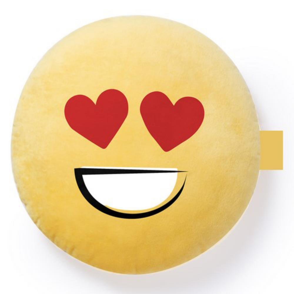cojin emoji poliester amarillo sonrisas
