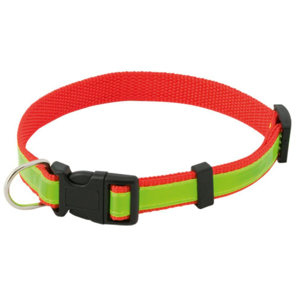 collar reflectante ajustable poliester perros
