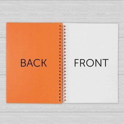 cuaderno a espiral colores combinados