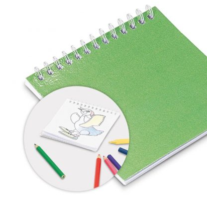 cuaderno colorear dibujos infantil verde amarillo