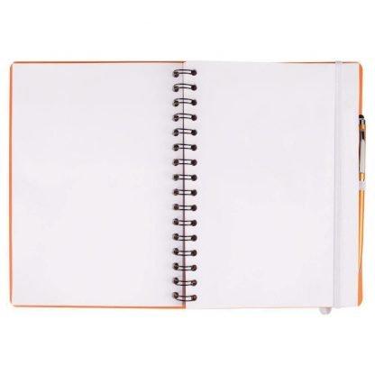 cuaderno espiral cierre goma boligrafo