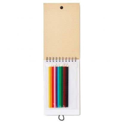 cuaderno infantil lapices colores