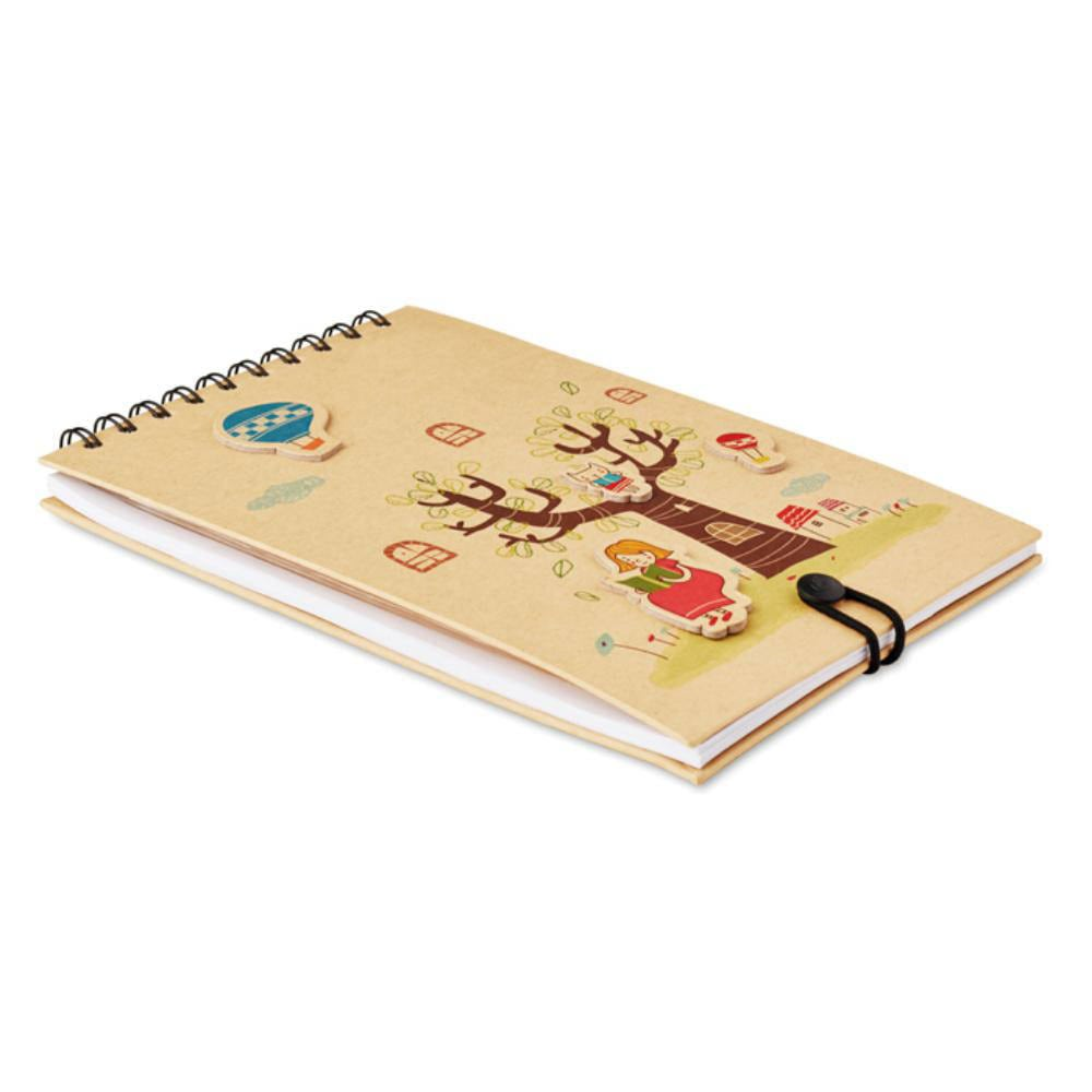 cuaderno infantil lapices colores