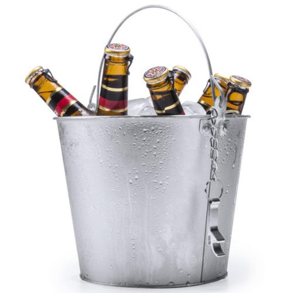 cubo metal abridor enfriador cervezas
