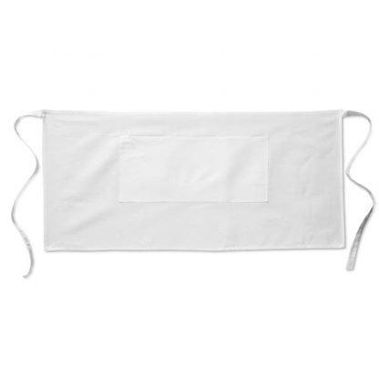 delantal cocina corto blanco negro comandas