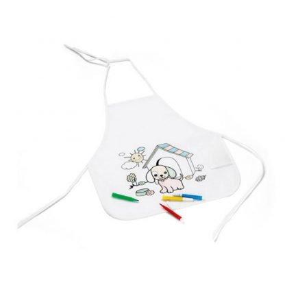 delantal colorear bolsillos marcadores infantil