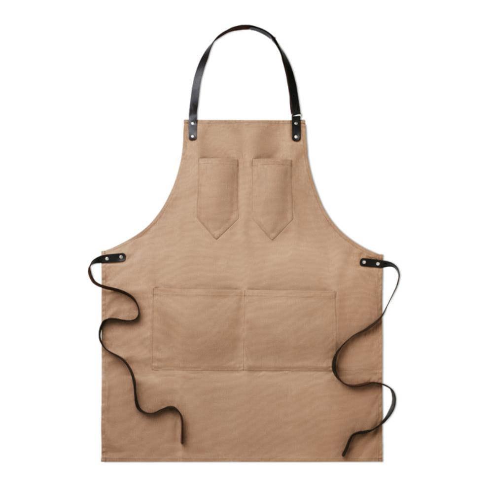 delantal lona piel cocinar chef