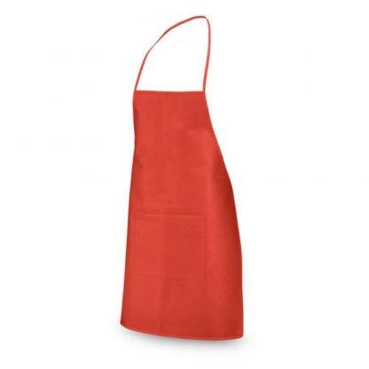 delantal nonwoven gr bolsillo negro rojo azul