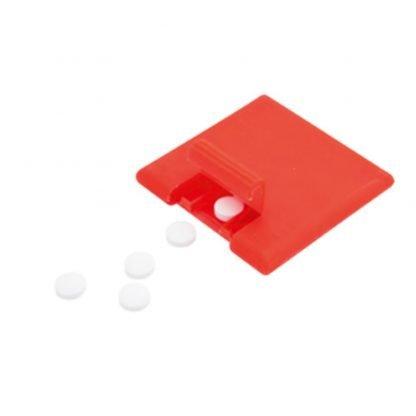 dispensador caramelos unidades rojo azul negro