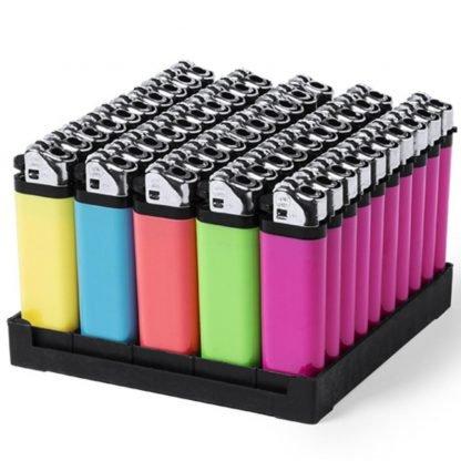 encendedor colores fluor mechero barato