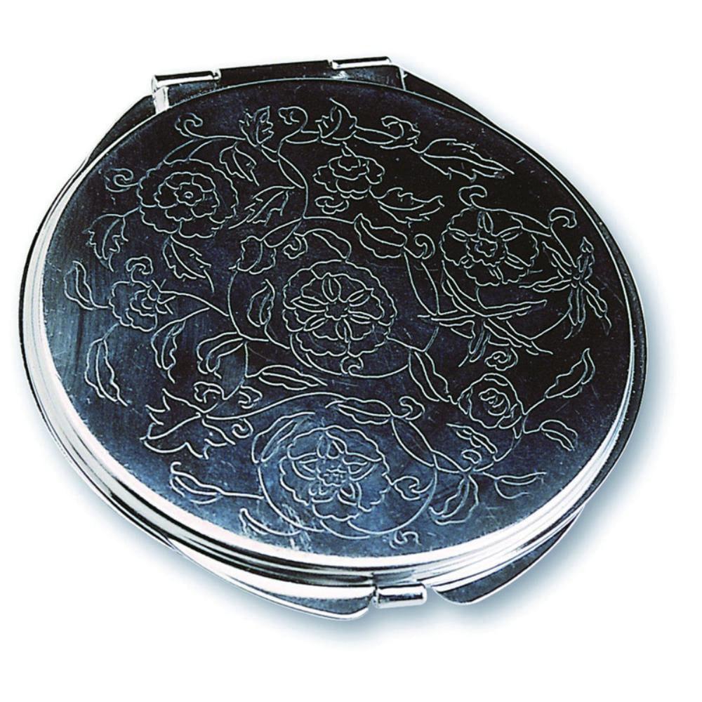 espejo doble metal estampado floral