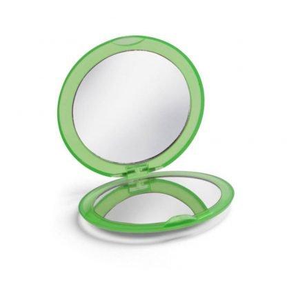 espejo maquillaje doble plastico colores