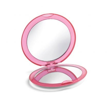 espejo maquillaje doble rosa naranja azul