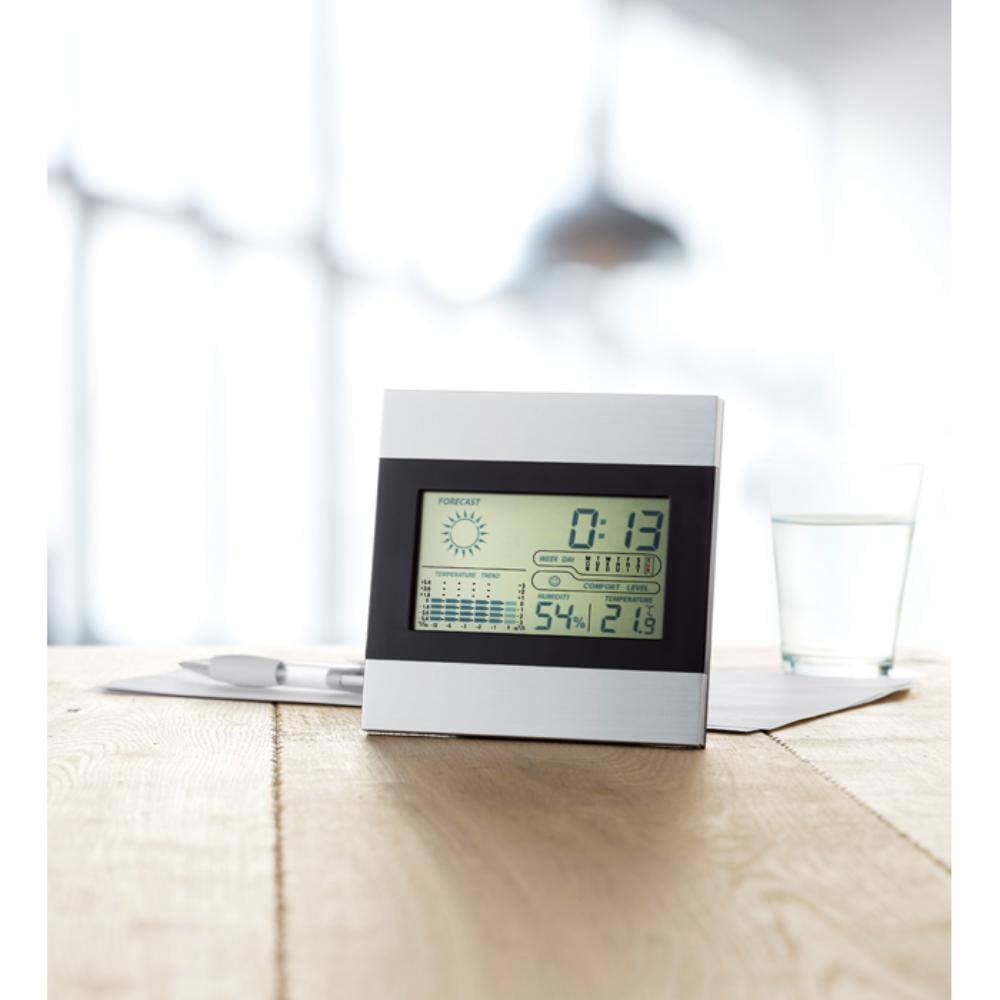 estacion meteorologica reloj termometro calendario