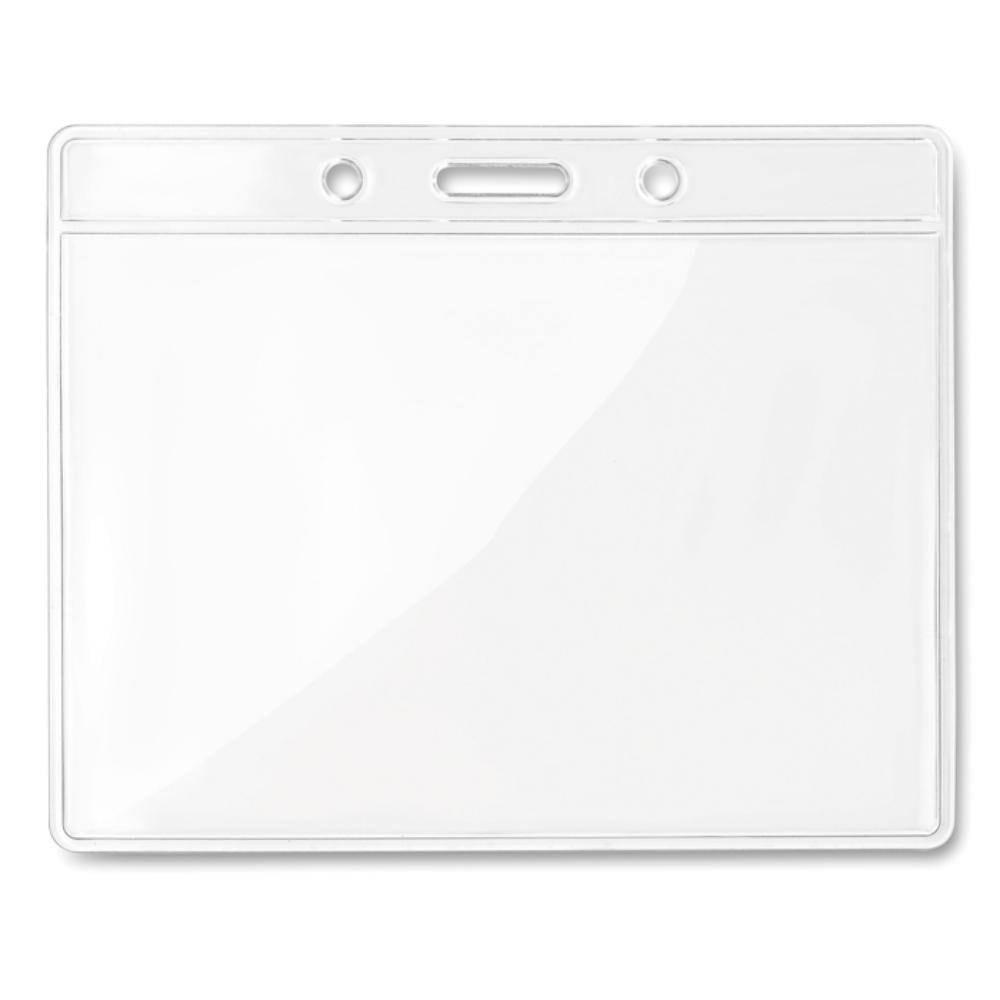 funda identificacion horizontal plastico transparente