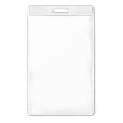 funda identificacion vertical plastico transparente