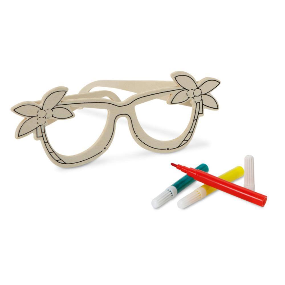 gafas madera infantil colorear