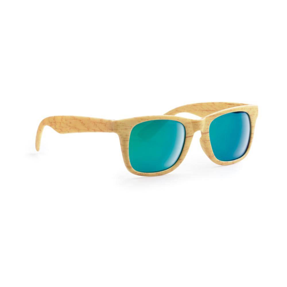 gafas sol efecto madera lentes espejo