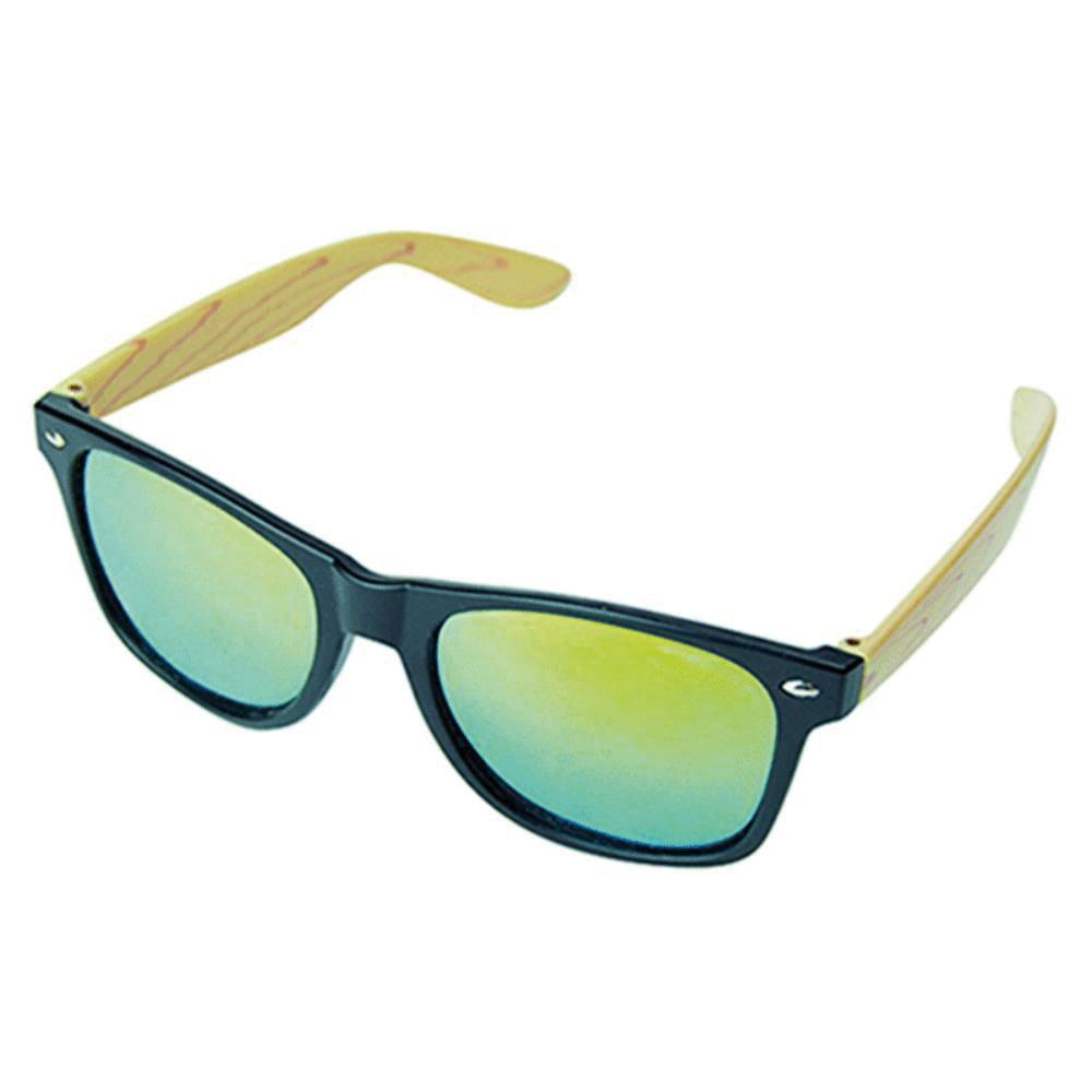 gafas sol patilla madera logo
