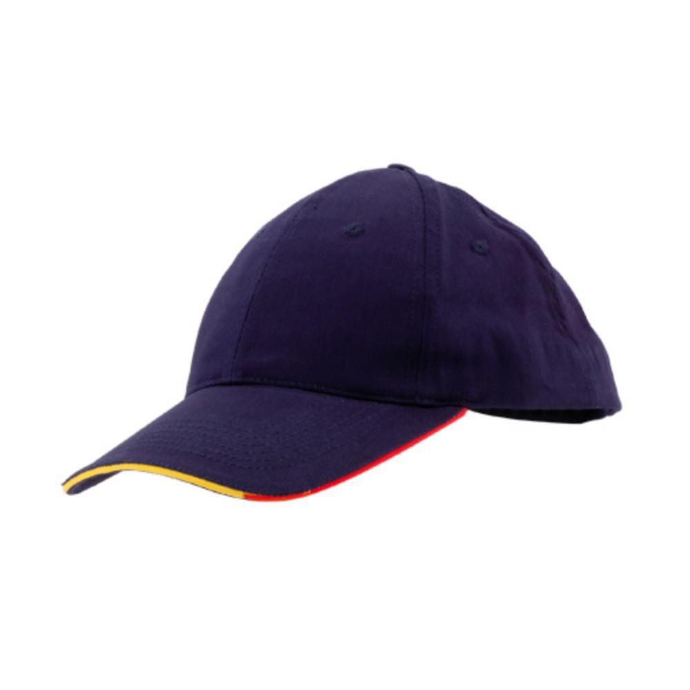 gorra paneles ribete bandera espana blanco azul