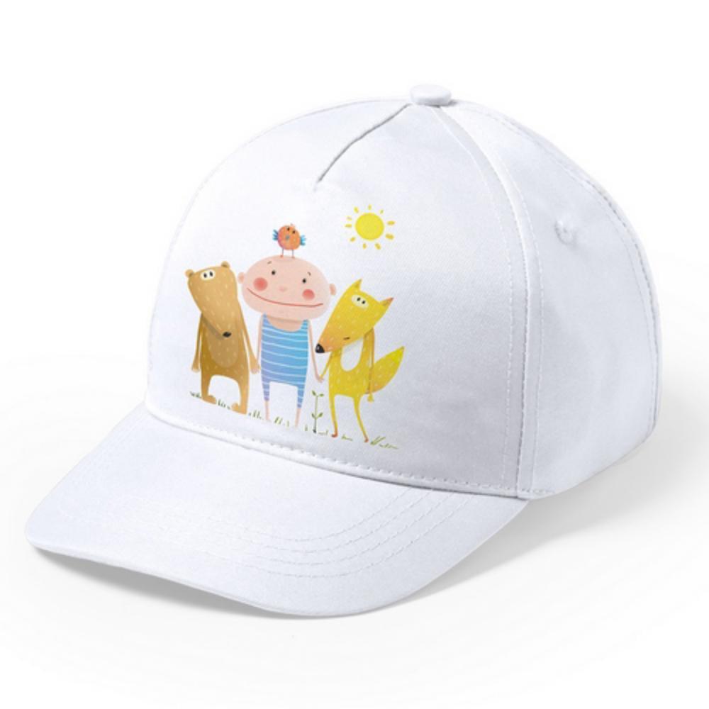 Gorra blanca de niño Modiak especial para sublimación - Top Promotions 569acf38452