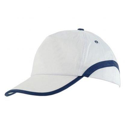 gorra color paneles ribete blanco frontal lateral