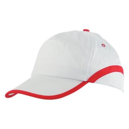 gorra color paneles ribete blanco frontal lateral