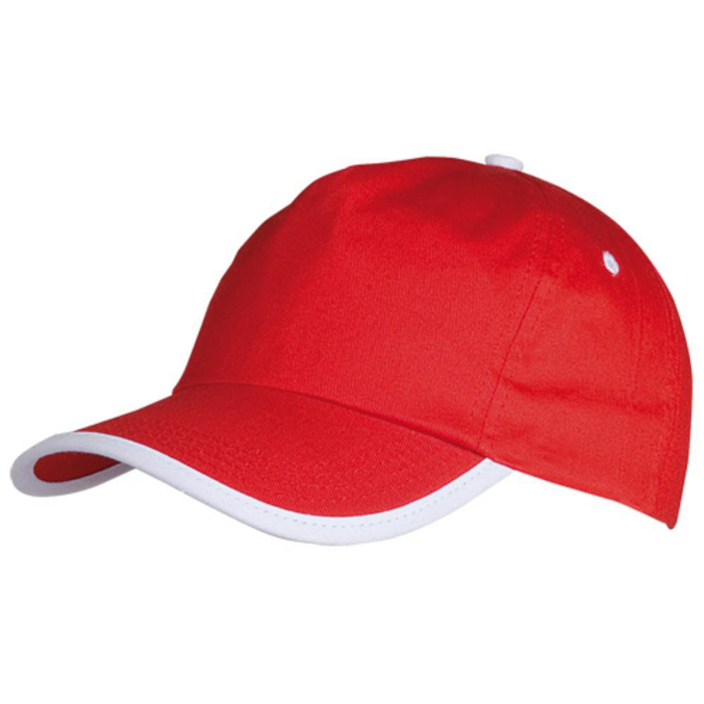 gorra color paneles ribete frontal blanco