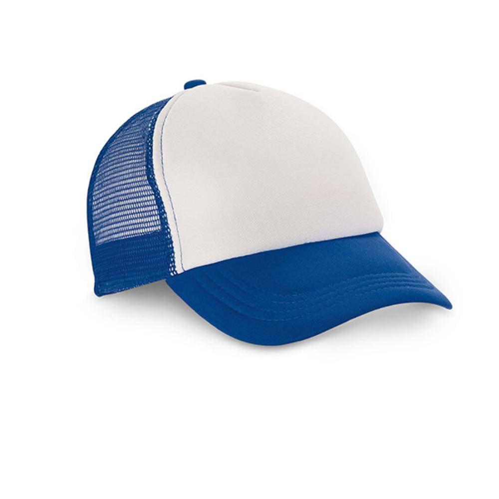gorra moderna rejilla sublimacion azul roja negra