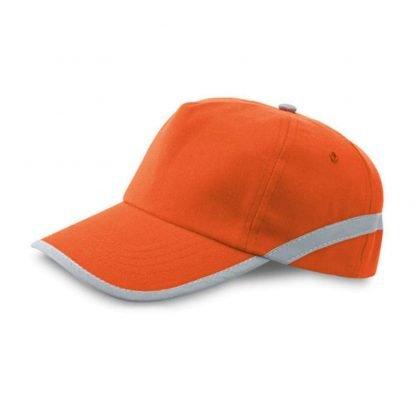 gorra poliester reflectante roja amarilla naranja