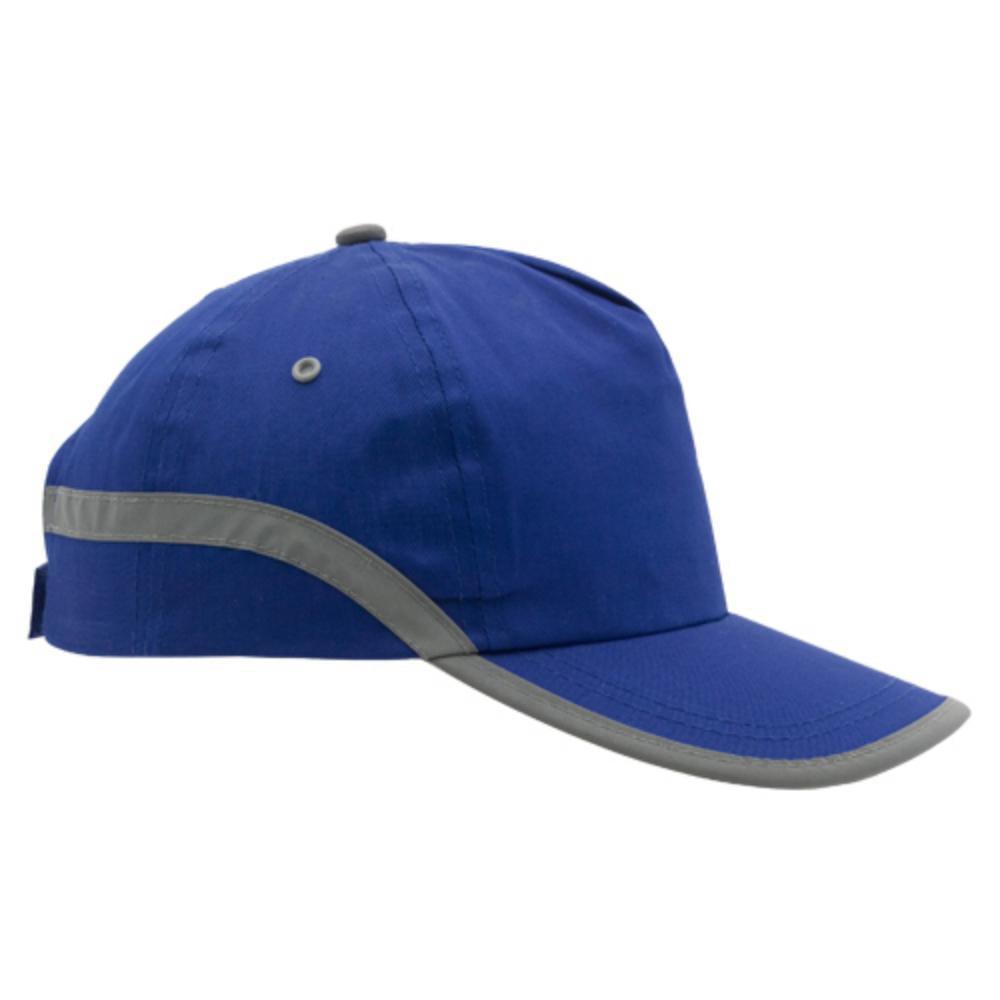 gorra reflectante azul naranja amarillo