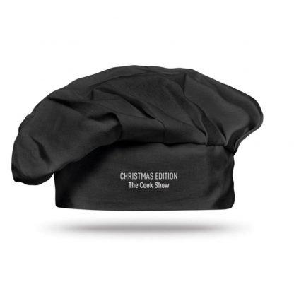 gorro chef algodon blanco negro cocinero
