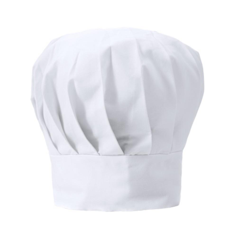 gorro cocina poliester algodon blanco negro