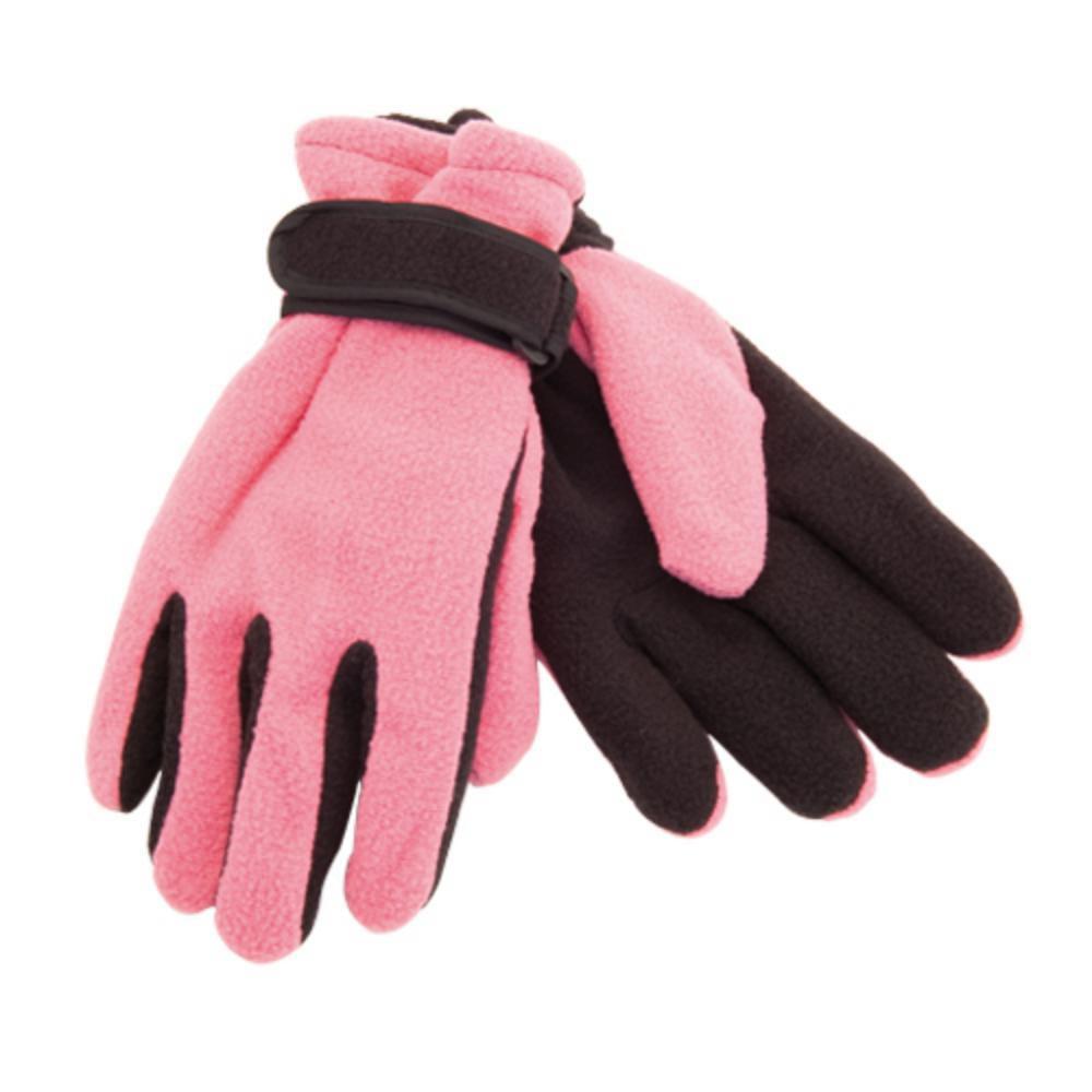 guantes forro polar adultos rosa rojo azul