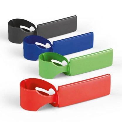 identificador maletas pvc rojo verde azul negro