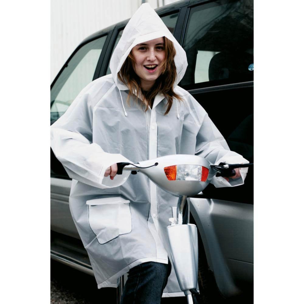 impermeable capucha bolsillos lluvia