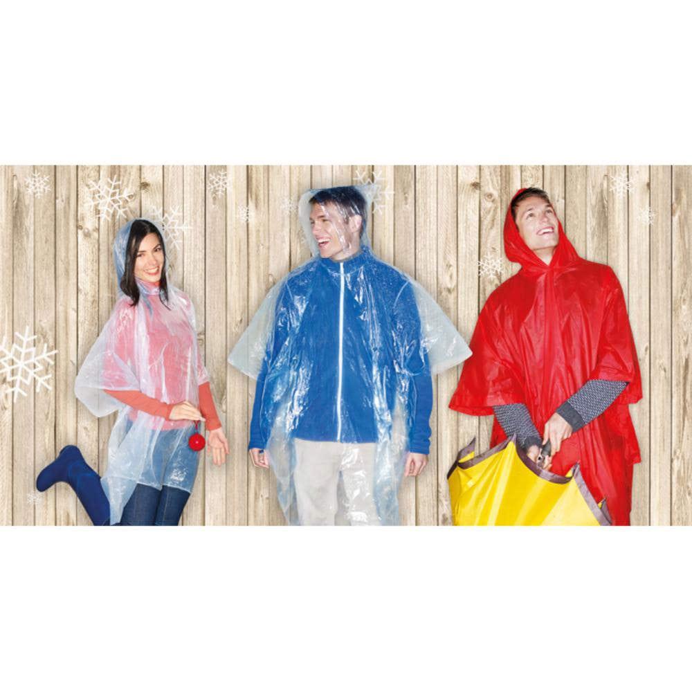 impermeable plastico bolsa capucha chubasquero lluvia