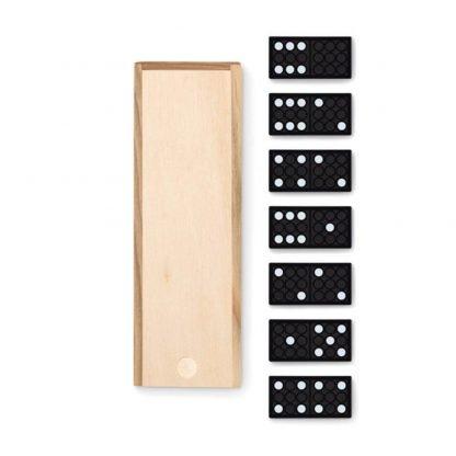 juego domino caja madera