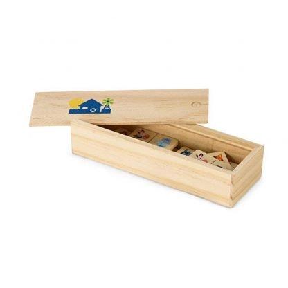 juego domino madera animales