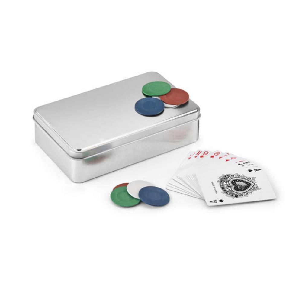 juego poker caja aluminio baraja fichas