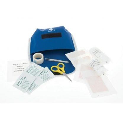 kit emergencia accesorios rojo azul estuche