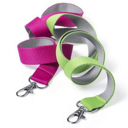 lanyard mosqueton plano bicolor cinta cuello