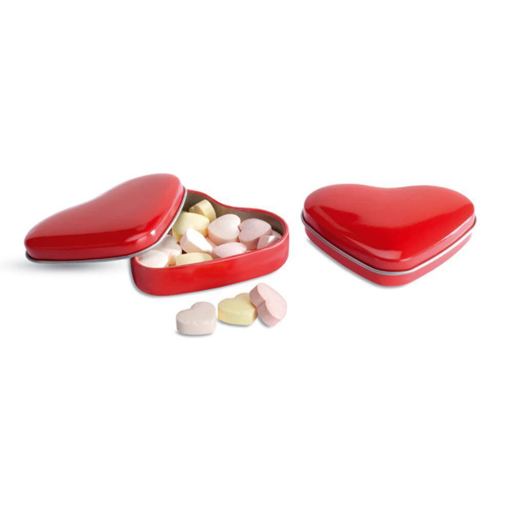 lata aluminio caramelos forma corazon
