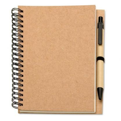 libreta carton boligrafo biodegradable